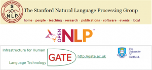 Natural Language Processing tool kits that we compared for the DAHA project