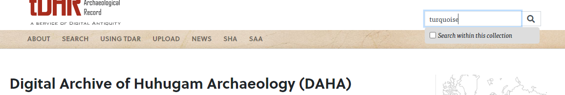 Restricting your search to the DAHA Collection